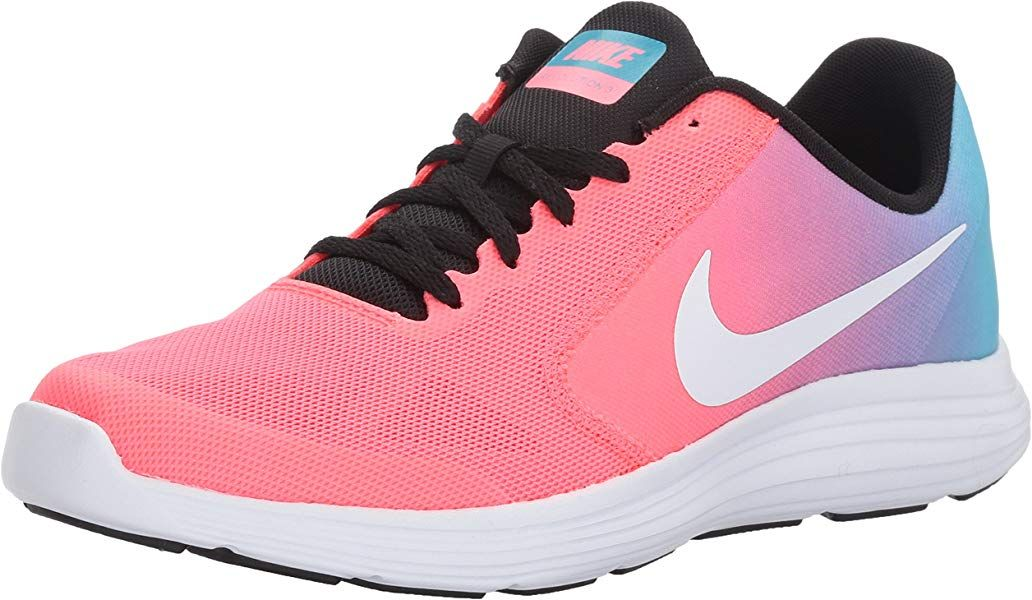 newest 7e5a5 46542 Amazon.com   NIKE Girls  Revolution 3 Running Shoe (GS), Chlorine  Blue White Racer Pink Black, 7 M US Big Kid   Running
