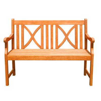 Perfekt Vifah 2 Sitzer Gartenbank Malibu Aus Holz (