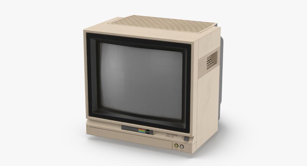 3d Commodore 64 Monitor Model Commodore Old Tv Monitor