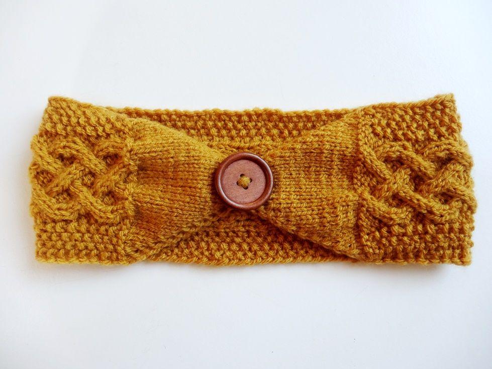 Anleitung: Stirnband mit keltischem Zopfmuster stricken | Zopfmuster ...