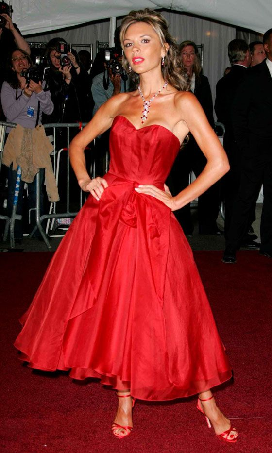 Victoria Beckham Sent The Paps Into A Frenzy When She Stepped Out At The Costume Institiute Gala In 2006