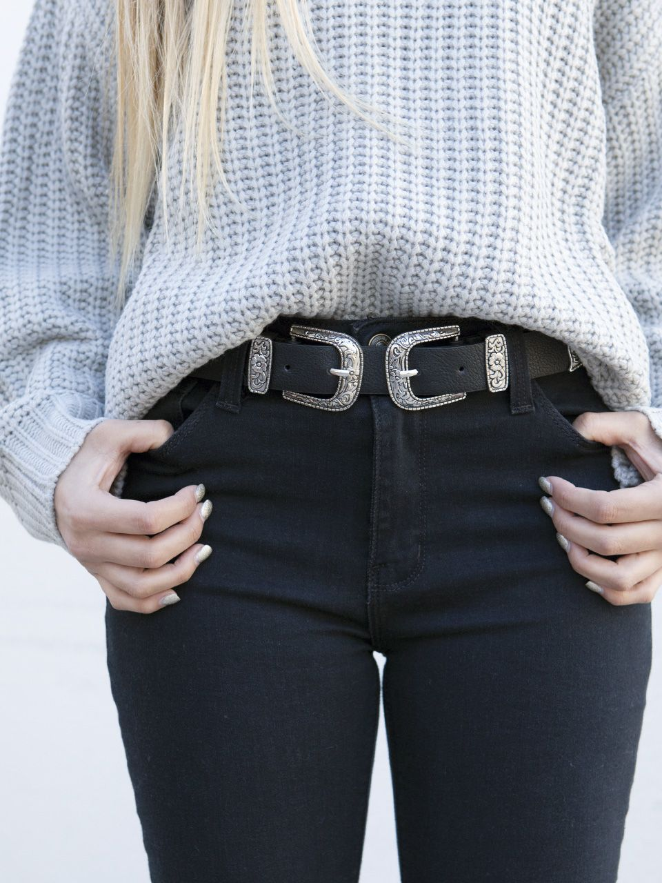 2f61ba6096503 DELUXE DOUBLE BUCKLE BELT | Style in 2019 | Fashion, Buckle outfits ...