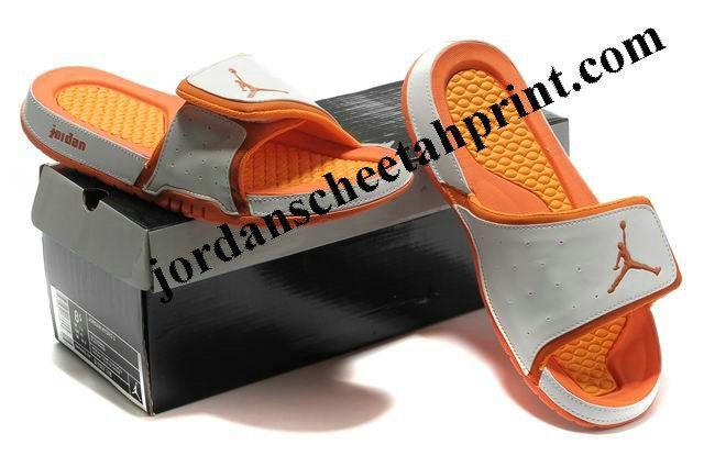 88d748051f85a5 Cheap Air Jordans 2 Massage Slippers White Orange