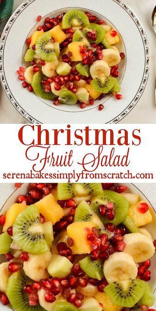 Christmas Fruit Salad.Christmas Fruit Salad