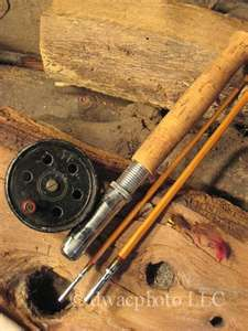 Vintage 1940s Bamboo Fly Rod Fishing Old School Bamboo