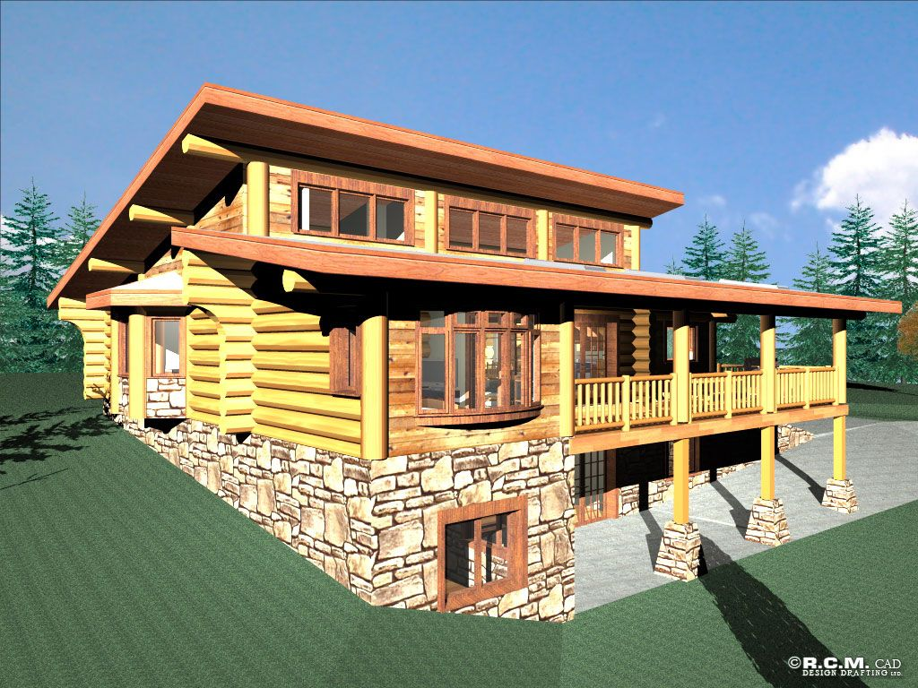 Clerestory house plans anderson custom homes log home for Home design packages