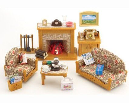 Sylvanian Families Country Living Room | Calico critters/ doll house ...