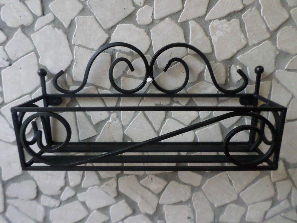 Mensola in ferro battuto porta spezie cucina col nero da parete elementi decorativi in ferro - Portaspezie da parete ...