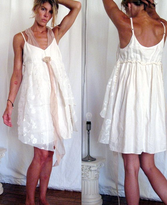 Dreamy Baby Doll Dress - Vintage Lace - Relaxed Fit Size Small to ...