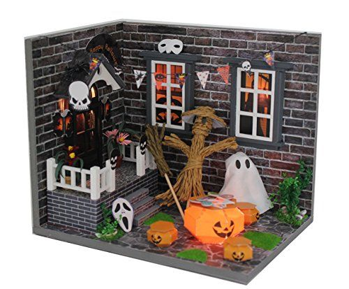 Dollhouses - Wood Dollhouse Miniature Kit DIY Doll House Room With Furniture Cover Toy Artwork GiftHalloween >>> Click image for more details.