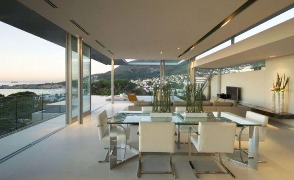 Perfekt Esszimmer Minimalistisch Modernes Luxus Ferienvilla Mit Ozean Blick