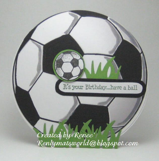 Its Soccer Season My Cards And Crafts Pinterest Ball