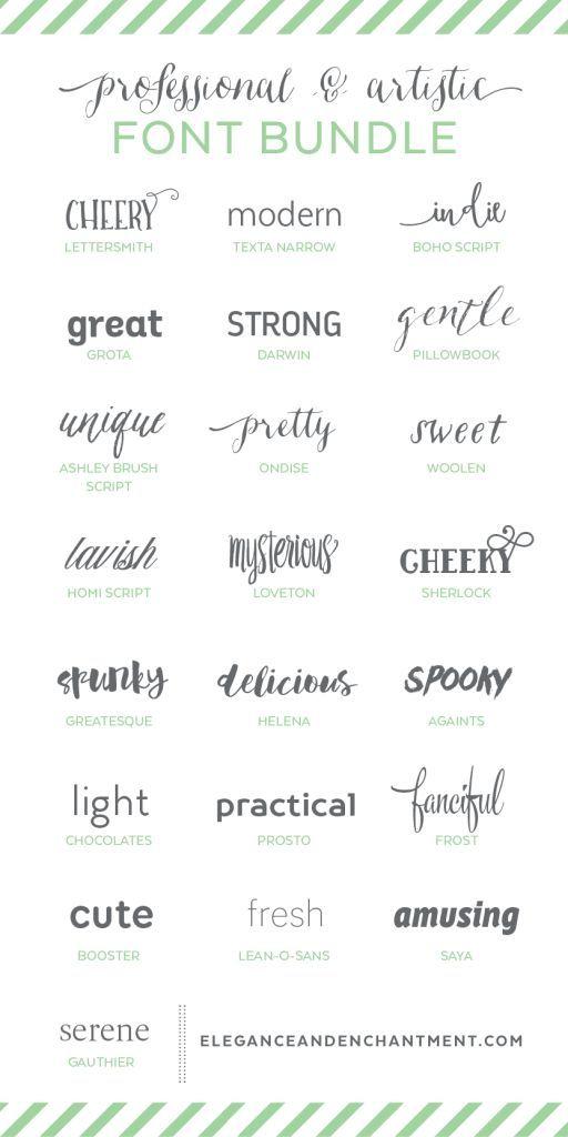 Professional And Artistic Font Bundle Typography Fonts Fancy Fonts Font Bundles