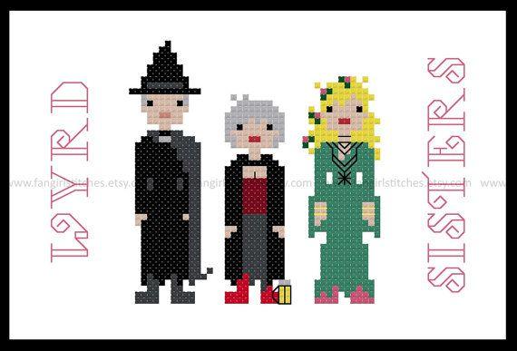 Wyrd sisters Rincewind Discworld cross stitch kits Hogfather Mrs Cake  14s
