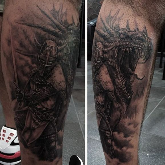 Top 80 Best Knight Tattoo Designs For Men – Brave And ...