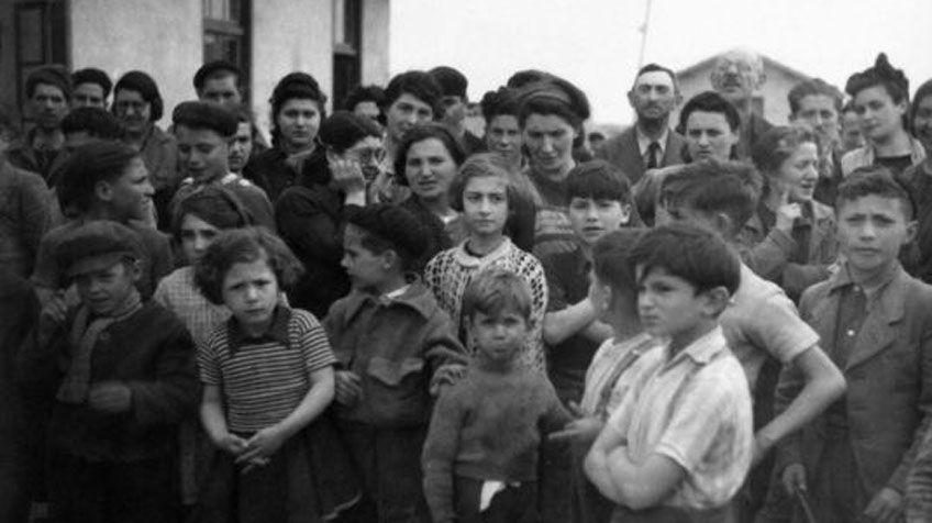 Niños internos en Rivesaltes en 1941
