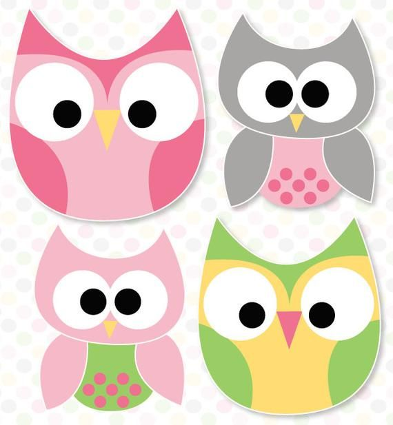 Night Owl Slumber Party PRINTABLE Owl Decals (INSTANT