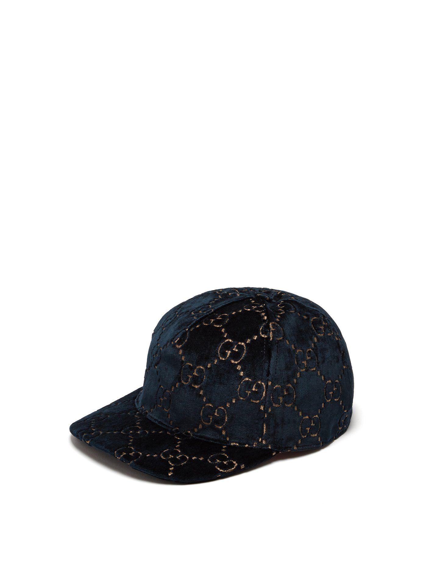 e5ecfee073d GG velvet baseball cap