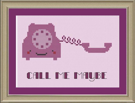 Call Me Maybe Cute Telephone Cross Stitch Pattern Etsy In 2020 Call Me Maybe Cross Stitch Patterns Cross Stitch