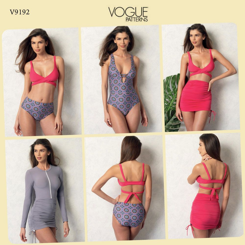 V9192 misses wrap top bikini one piece swimsuits cover ups vogue swimsuit sewing pattern v9192 wrap top bikini one piece swimsuits cover ups jeuxipadfo Gallery