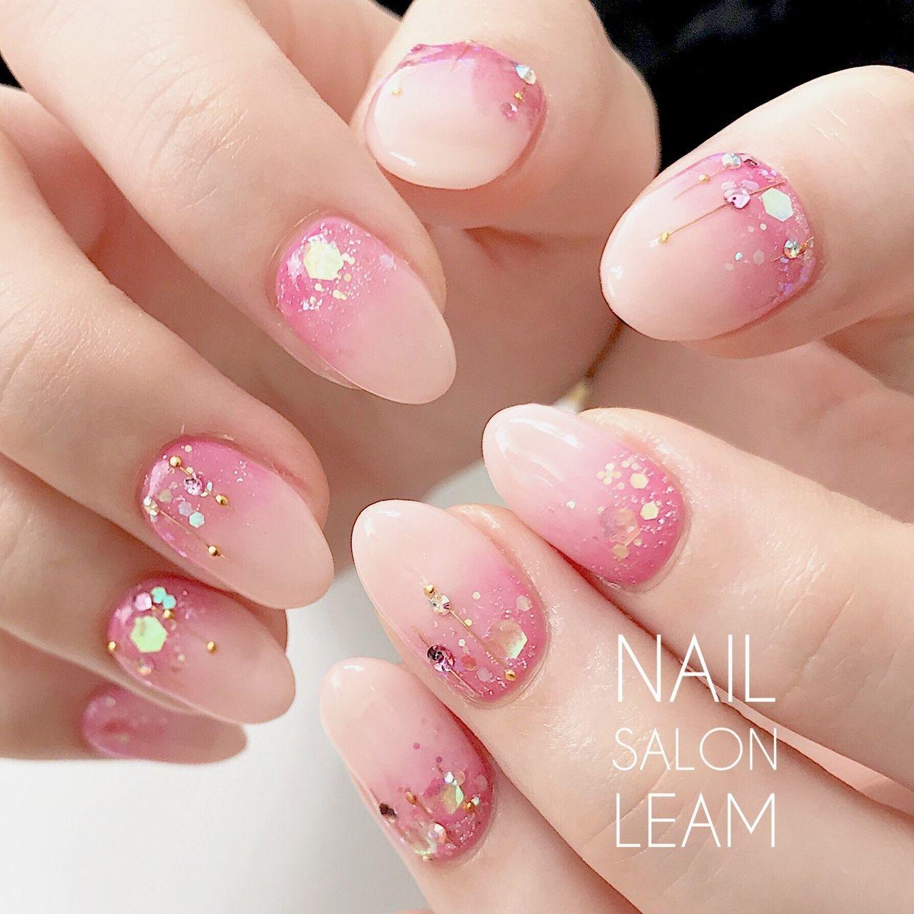 春/夏/オフィス/パーティー/ハンド , nail salon Leamのネイル
