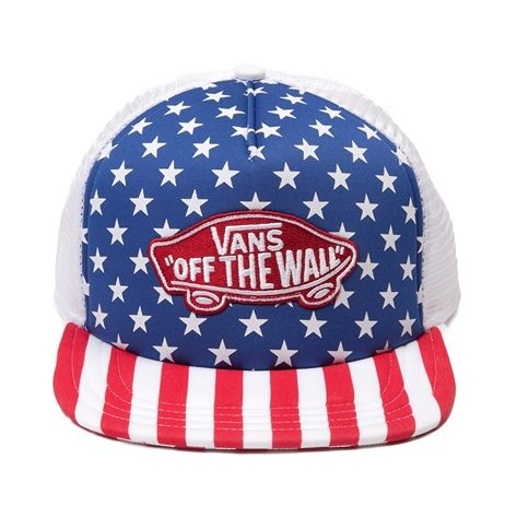 f7a0bc83f21 Vans Stars   Stripes Trucker Hat in Red White Blue- Perfect for 4th of July    the beach!! Yeahhh buddY!