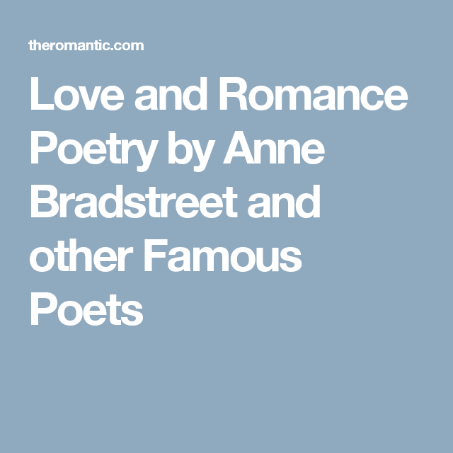 Most romantic poems by famous poets