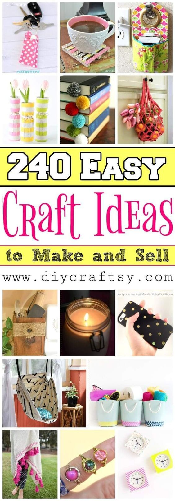 240 Easy Crafts to Make and Sell – DIY Craft Ideas -   18 diy projects To Sell ideas