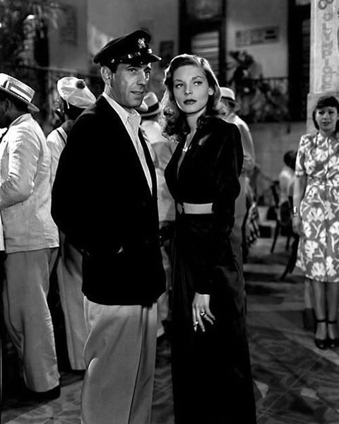 """""""Humphrey Bogart and Lauren Bacall, To Have and Have Not (1944). #humphreybogart #laurenbacall…"""""""