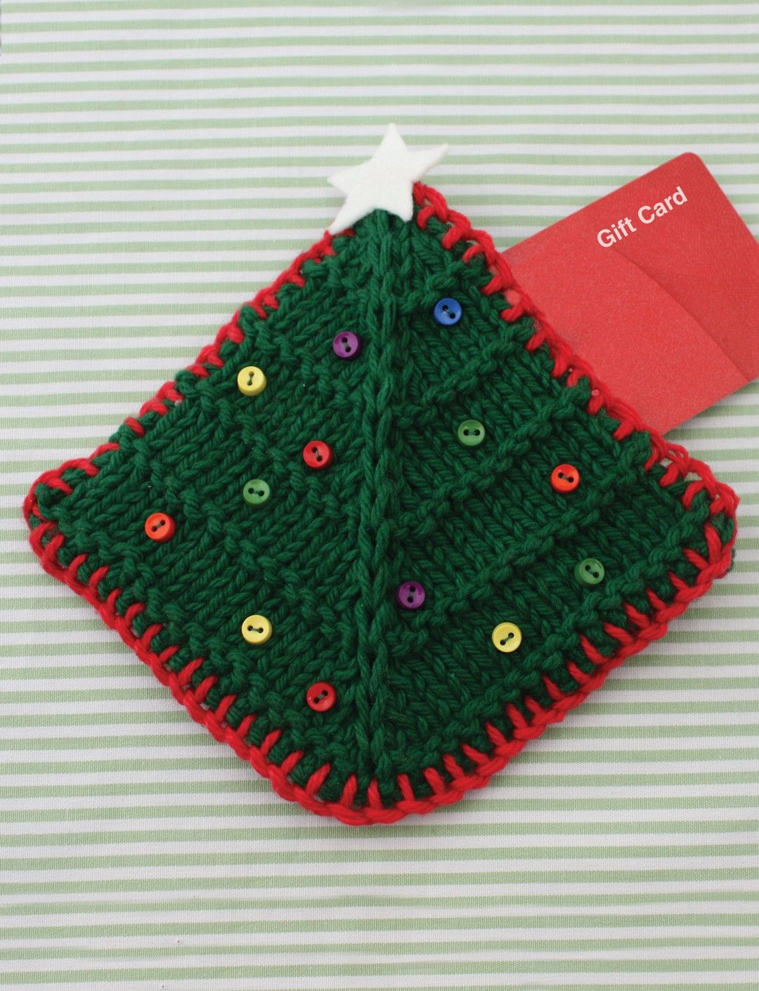 Yarnspirations.com - Lily Christmas Tree Gift Card Cozy ...