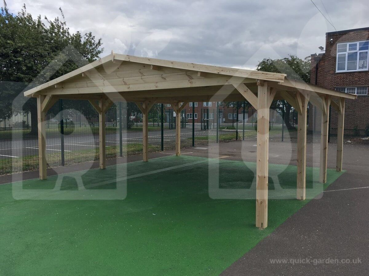 Car port wooden 6x6 20x20 UK free shipping Carport
