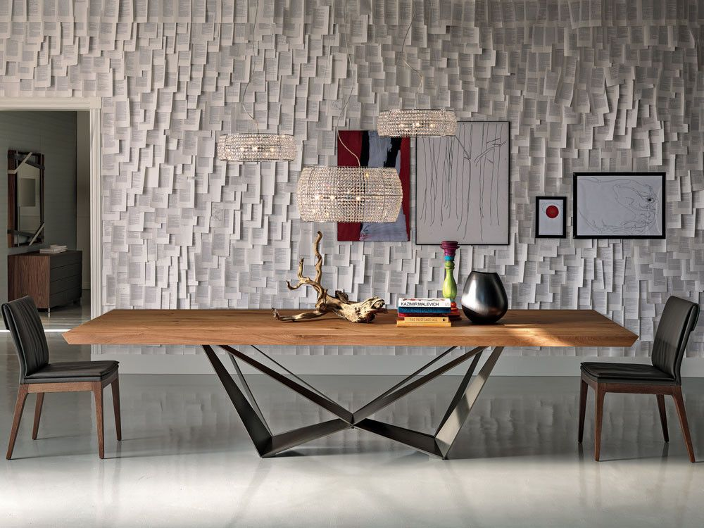 Cattelan Italia Skorpio Wood Dining Table by