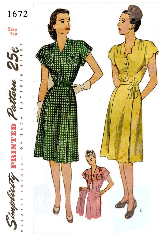 Vintage Wrap Dress Pattern