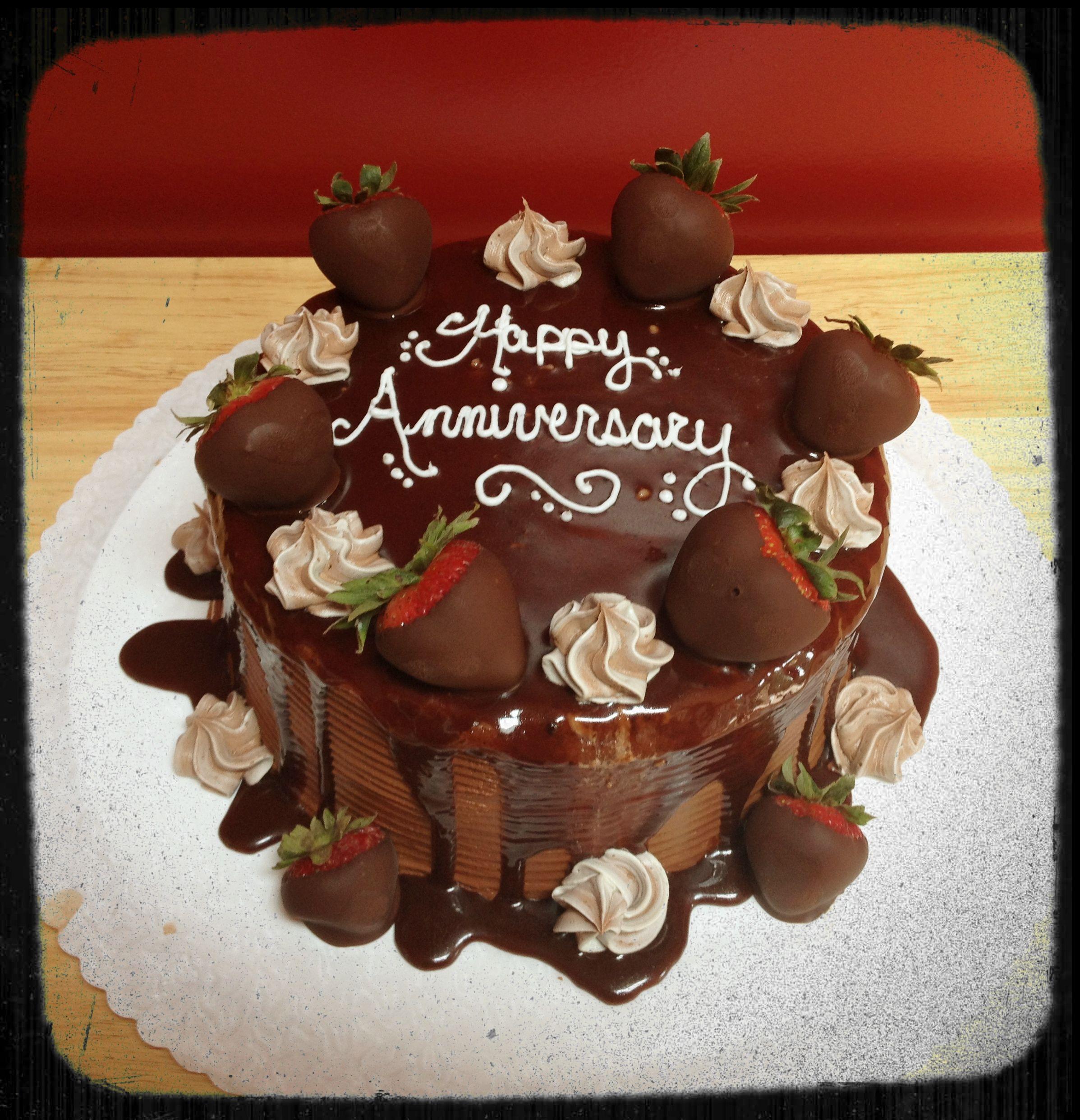 Anniversary Chocolate Strawberry Cake | My Cakes :-) | Pinterest ...