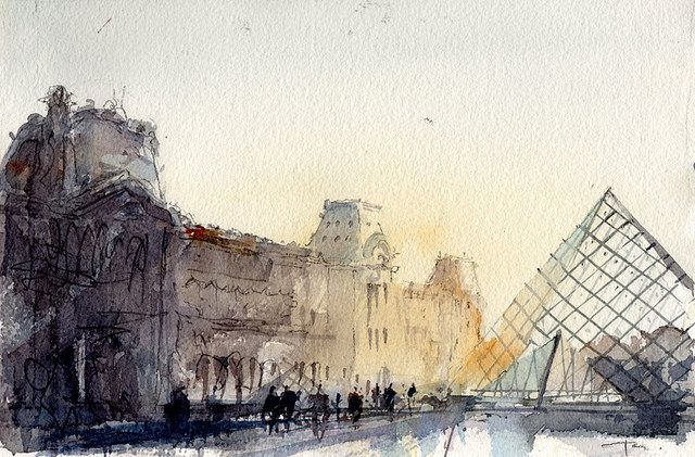 Notre Dame Winter07 Paris Painting Paris Art Paris Drawing