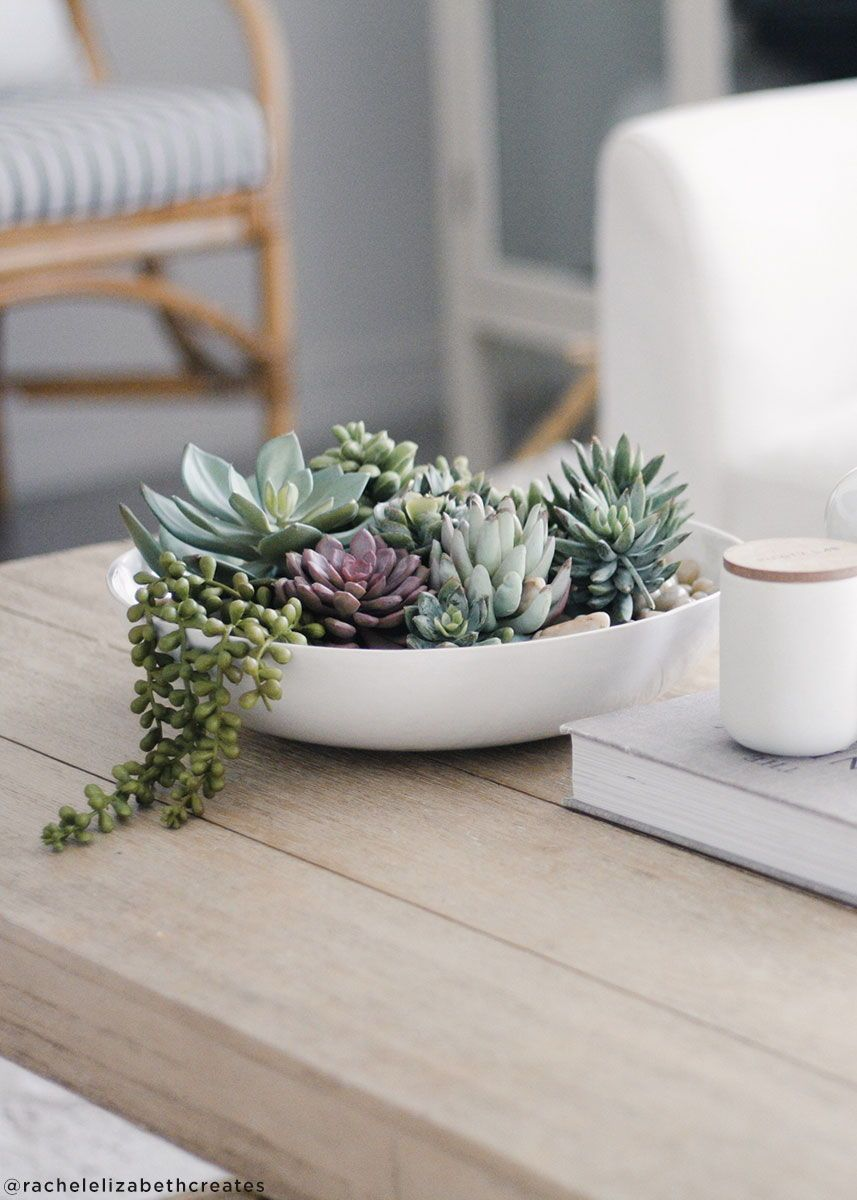 DIY Faux Succulent Terrarium for Boho Home Decor. #succulentterrarium