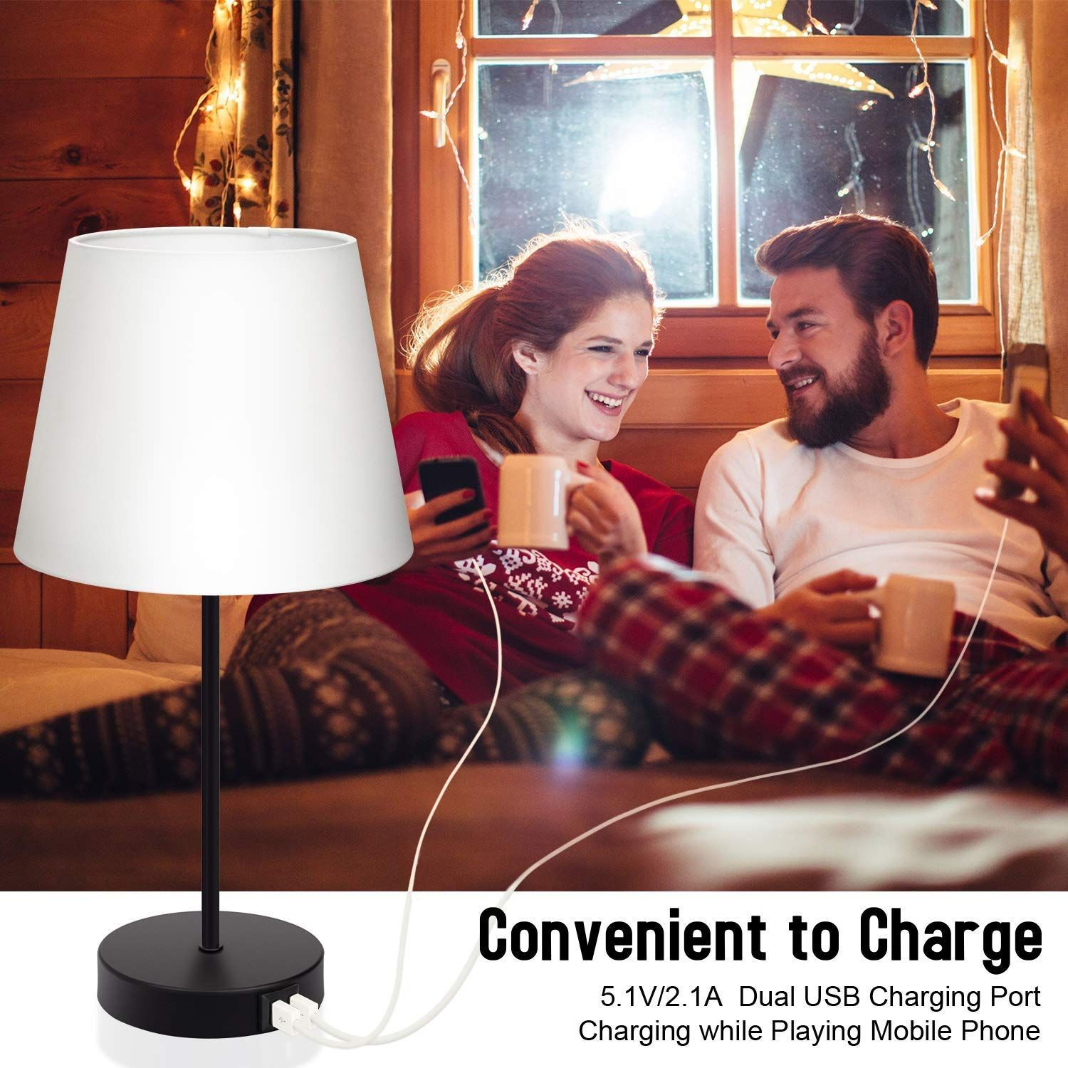 Touch Control Table Lighting 2 Usb Charging Ports 3 Way Dimmable Bedside Nightstand Lamp In 2020 Light Table Lamp Bedside Night Stands