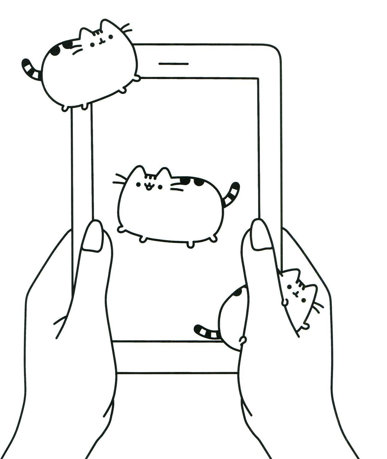 Pusheencatsdiy Cat Coloring Page Pusheen Coloring Pages Cute Coloring Pages
