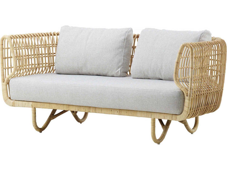 Cane Line Indoor Nest Natural Loveseat Sofa In 2020 Outdoor Sofa Balcony Furniture Furniture