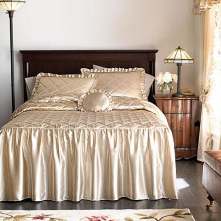 Bedspreads On Whole Home Md Hilary Satin Bedspread And
