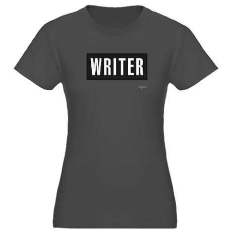 Writer Women's Fitted T-Shirt (dark)    Asphalt, Large