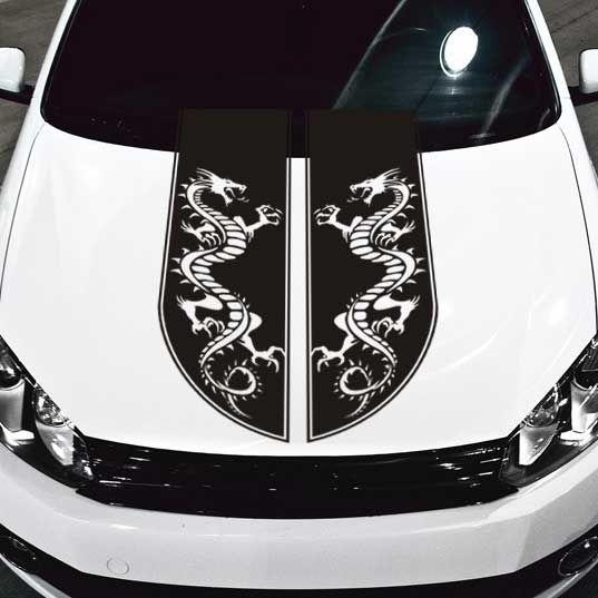 Tribal Dragon Stripe Car Hood Decal Car Hood Decals