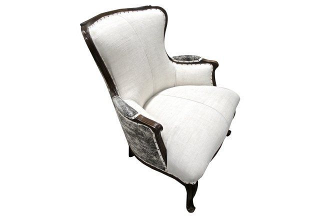 brindle hide french linen armchair churrrs pinterest armchairs