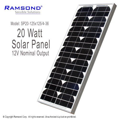 Ramsond 20 Watt 20w W Solar Panel Module 12v Nominal Output Rv Boat Battery Charger Charging Trickle Boat Solar Solar Panels Rv Solar