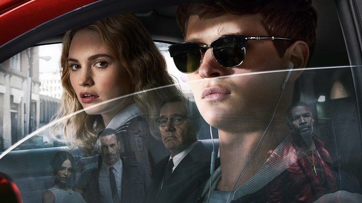 Baby Driver 2017 Ansel Elgort Lily James Movie Wallpaper