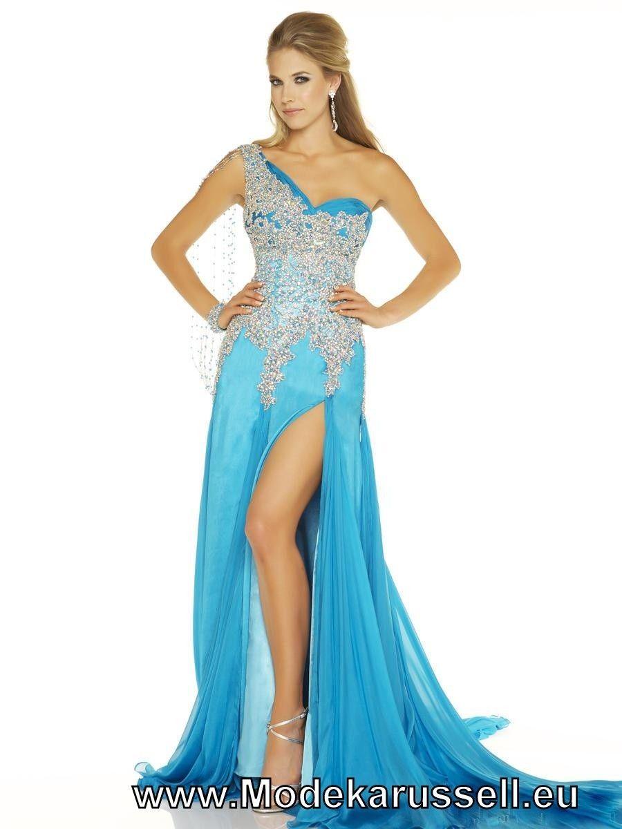 Blaues One Shoulder Abendkleid 12 Online #mode #fashion #kleider