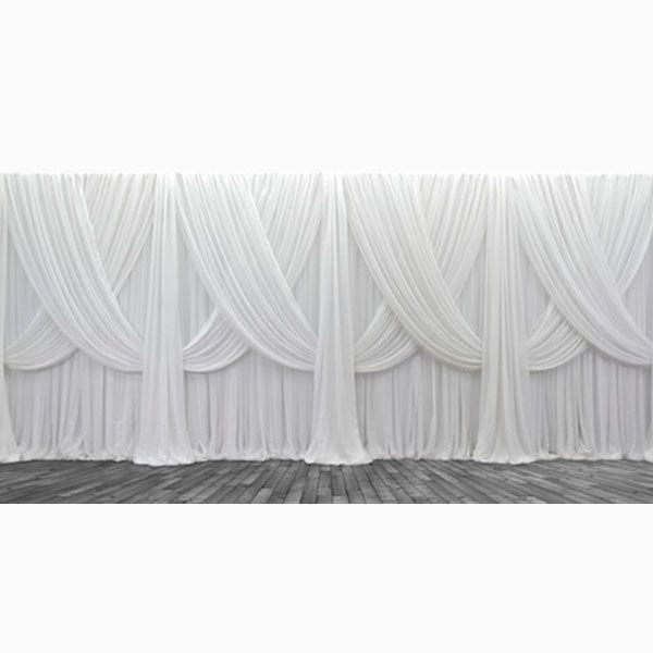 Premium Criss-Cross Curtain 4 Panel Backdrop - Height: 8-20ft