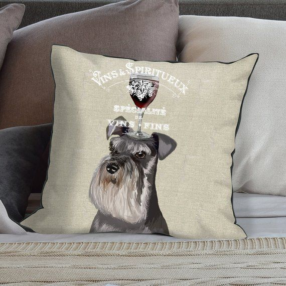 Schnauzer gifts miniature schnauzer pillow Schnauzer cushion dog pillows gift for dog lover dog deco