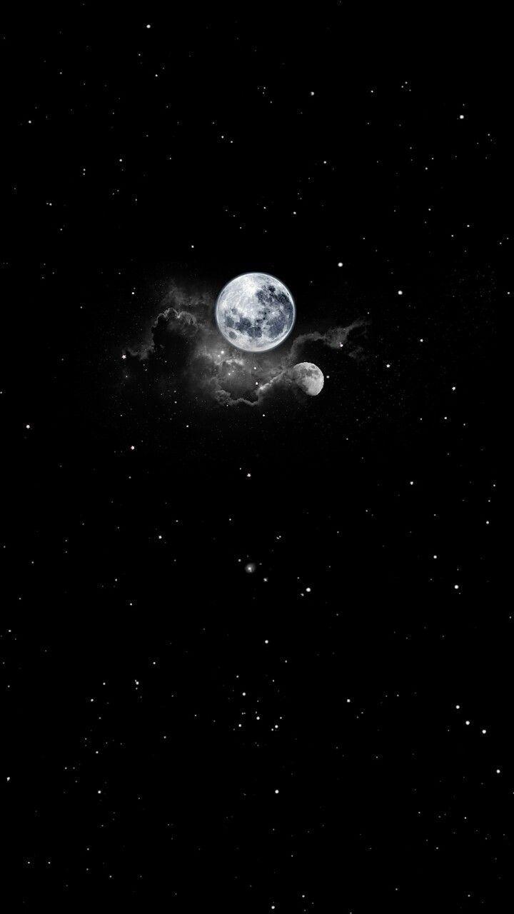 Moon Background Galaxy Wallpaper Gece Gokyuzu Goruntuleri Arkaplan Tasarimlari