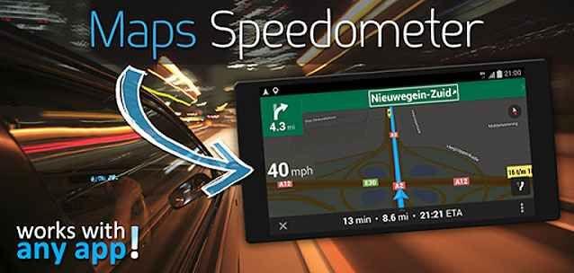 """Maps Sppedometer per Android aggiunge il tachimetro a Google Maps (e non solo)!! Un applicazione concettualmente semplice… Ma estremamente utile!  Con """"Maps Speedometer"""" (Maps tachimetro nella versione italiana) potrete inserire su Google Maps o altri navigatori per Android un  #android #tachimetro #mappe #navigatori"""